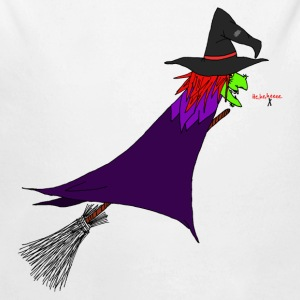 Witch flies on the broom Baby Bodysuits - Longlseeve Baby Bodysuit
