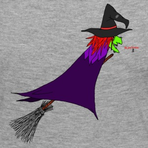 Witch flies on the broom Long Sleeve Shirts - Women's Premium Longsleeve Shirt