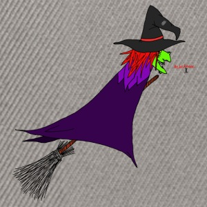 Witch flies on the broom Caps & Hats - Snapback Cap
