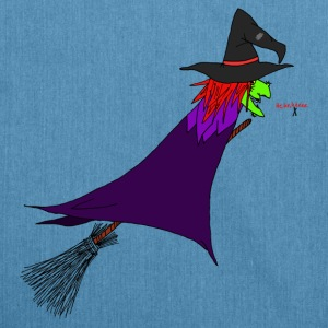 Witch flies on the broom Bags & Backpacks - Shoulder Bag made from recycled material