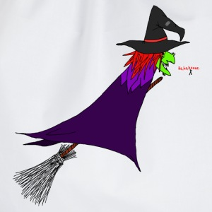Witch flies on the broom Bags & Backpacks - Drawstring Bag