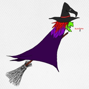 Witch flies on the broom Caps & Hats - Baseball Cap