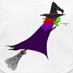 Witch flies on the broom Baby Bibs - Baby Organic Bib