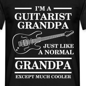 I'm a guitarist grandpa just like a normal grandpa - Men's T-Shirt