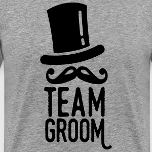 team groom T-shirts - Mannen Premium T-shirt