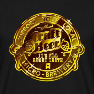 Craft Beer, gold T-Shirts - Men's T-Shirt