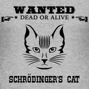 Awesome Geek Shirt: Schrödinger's Cat T-shirts - Slim Fit T-shirt herr