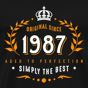original since 1987 simply the best 30th birthday T-Shirts - Männer Premium T-Shirt