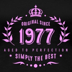 original since 1977 simply the best 40th birthday T-Shirts - Frauen Premium T-Shirt