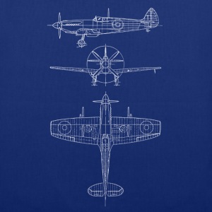 Spitfire airplane blueprint avion Sacs et sacs à dos - Tote Bag
