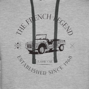 CITROEN MEHARI FRENCH CAR Sweat-shirts - Sweat-shirt à capuche Premium pour hommes