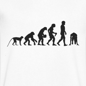 Evolution race T-Shirts - Men's V-Neck T-Shirt