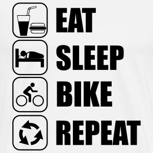 Eat,sleep,bike,repeat  - Männer Premium T-Shirt