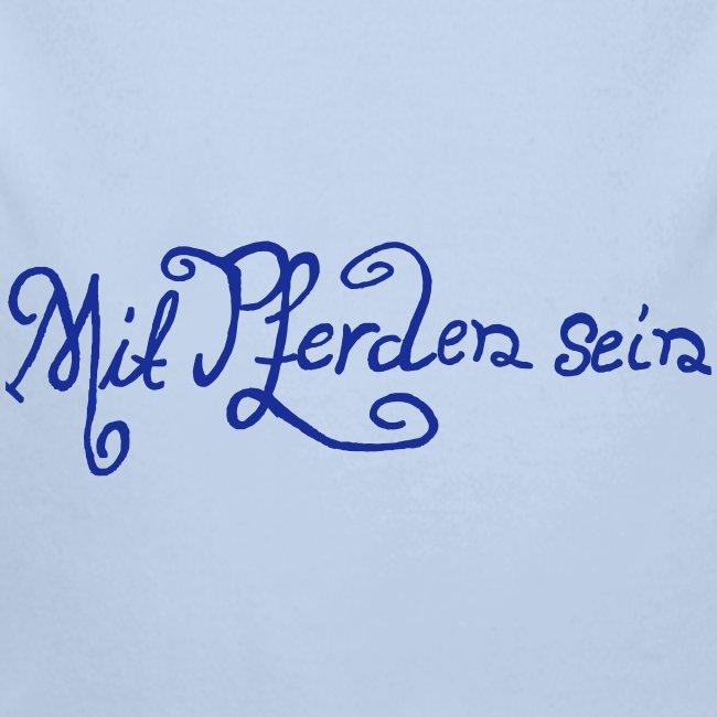 Schnörkelschrift MPS  Baby- Langarmbody ( Print: Blue)