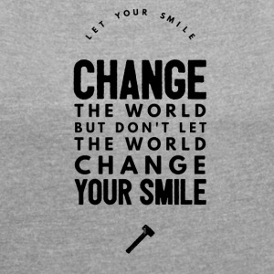 Change the world Camisetas - Camiseta con manga enrollada mujer