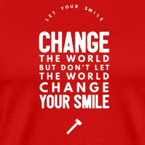 Change the world T-shirts - Herre premium T-shirt