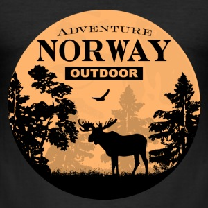 Moose - Norway Adventure T-Shirts - Männer Slim Fit T-Shirt
