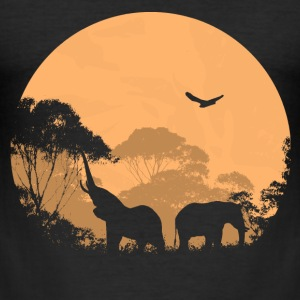 Elephant - Elefant  T-Shirts - Männer Slim Fit T-Shirt