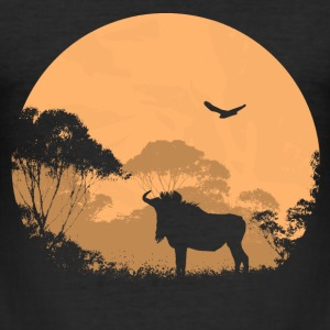 Gnu  - Wildebeest T-Shirts - Männer Slim Fit T-Shirt