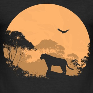 Lion - Löwe T-Shirts - Männer Slim Fit T-Shirt