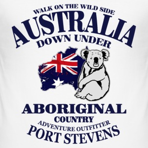 Australia - Koala & Map Flag T-Shirts - Männer Slim Fit T-Shirt