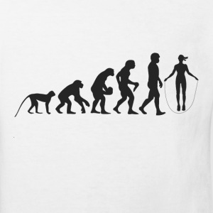 Evolution Seilspringen T-Shirts - Kinder Bio-T-Shirt