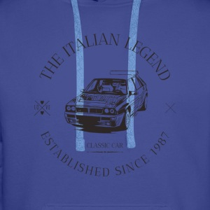 LANCIA DELTA INTEGRALE ITALIAN CAR Sweat-shirts - Sweat-shirt à capuche Premium pour hommes