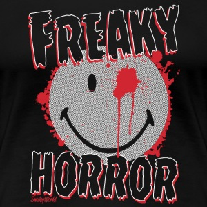 SmileyWorld Freaky Horror Smiley - Maglietta Premium da donna
