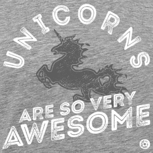 Unicorns Are Awesome - white grey - Männer Premium T-Shirt