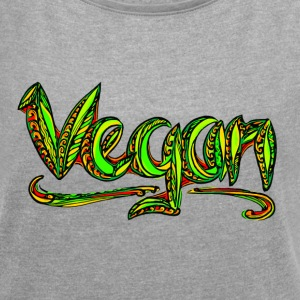 Vegan, animal welfare,  save earth, nature T-Shirt - Women's T-shirt with rolled up sleeves