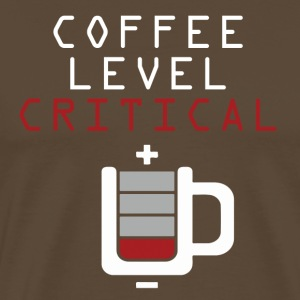 Coffee Level Critical T-Shirts - Men's Premium T-Shirt