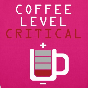 Coffee Level Critical Bags & Backpacks - EarthPositive Tote Bag
