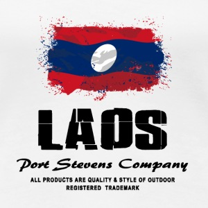 Laos Flag Logo T-Shirts - Frauen Premium T-Shirt