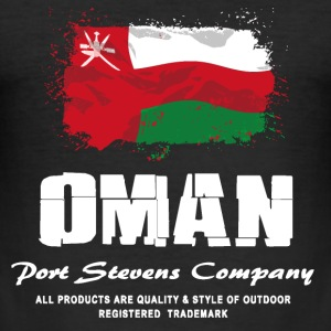 Oman Flag Logo T-Shirts - Männer Slim Fit T-Shirt