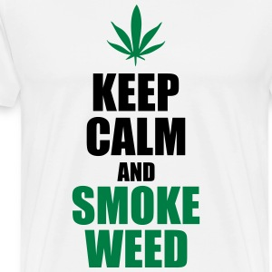Keep calm and smoke weed  - Männer Premium T-Shirt