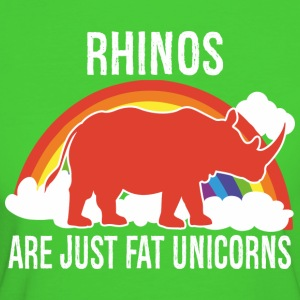 Rhinos -- are just fat Unicorns T-Shirts - Women's Organic T-shirt