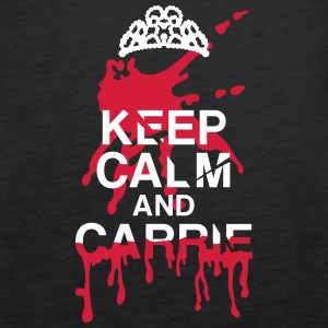 Keep calm Carrie bloodstain Tops - Women's Premium Tank Top