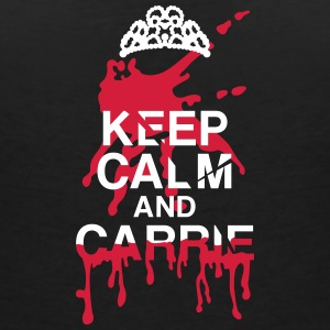 Keep calm Carrie Tee shirts - T-shirt col V Femme