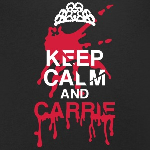 Keep calm Carrie Halloween T-shirts - Mannen T-shirt met V-hals