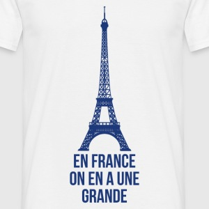 T shirt blanc hommes En France on a une grande - T-shirt Homme