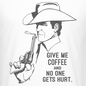 Give Me Coffee and No One Gets Hurt T-Shirts - Men's Long Body Urban Tee