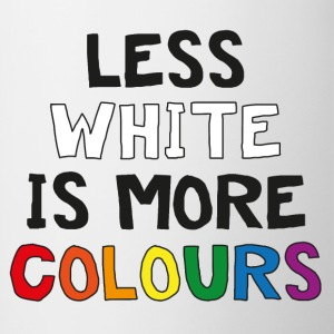 Less White is More Colours - Tvåfärgad mugg