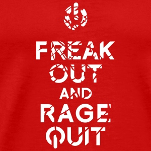 keep calm rage quit gaming T-Shirts - Männer Premium T-Shirt