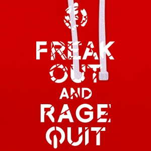 keep calm rage quit Hoodies & Sweatshirts - Contrast Colour Hoodie