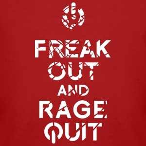 keep calm rage quit gaming T-Shirts - Männer Bio-T-Shirt
