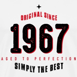 original since 1967 simply the best 50th birthday T-Shirts - Männer Premium T-Shirt