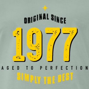 original since 1977 simply the best 40th birthday T-Shirts - Männer Premium T-Shirt