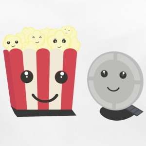Cinema film Pocorn with faces Baby Bibs - Baby Organic Bib