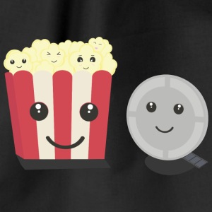 Cinema film Pocorn with faces Bags & Backpacks - Drawstring Bag