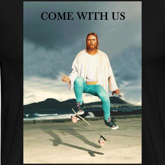 T-shirt Jesus Skate